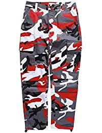 Pantalones De Camuflaje De Hombres Holgados Los Tácticos Pantalones Pantalones De Carga Cómodo De Algodón De Múltiples Bolsillos Moda…