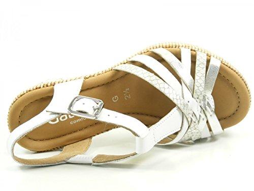 Gabor Damen Comfort Knöchelriemchen Weiß