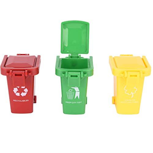 ni Mülltonnen-Set Klein Bunte Mülltonnenspielzeug Mülleimer für Kinder-Gelb,Rot,Grün ()