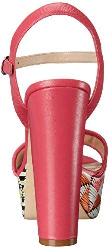 Nine West Garofano pompa della piattaforma della pelle Pink Multi/Dark Pink
