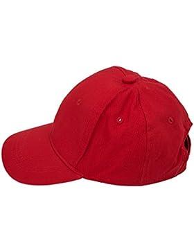 SODIAL(R) Rosso bambini Plain berretto da baseball dei ragazzi delle ragazze del cappello dei bambini Junior Estate