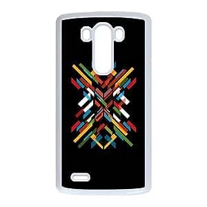 LG G3 Cell Phone Case White Fractal Pattern Zpei