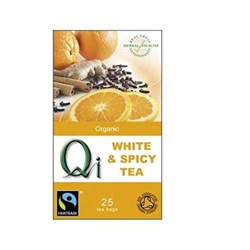 Qi Organic Fair Trade White & Spicy Tea 40g 25 Tea bags