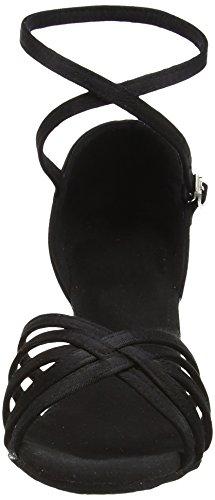 Amurleopard Damen Latein Schuhe 5cm Absatz Schwarz 38(Herstellergröße:39)