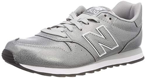 New Balance Damen 500 Sneaker, Silber Metallic Silver Mta, 40 EU