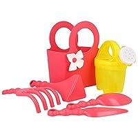 COM-FOUR® Garden Tool Set - Garden helper like flower scoop, plant trowel, flower fork and carrying bag