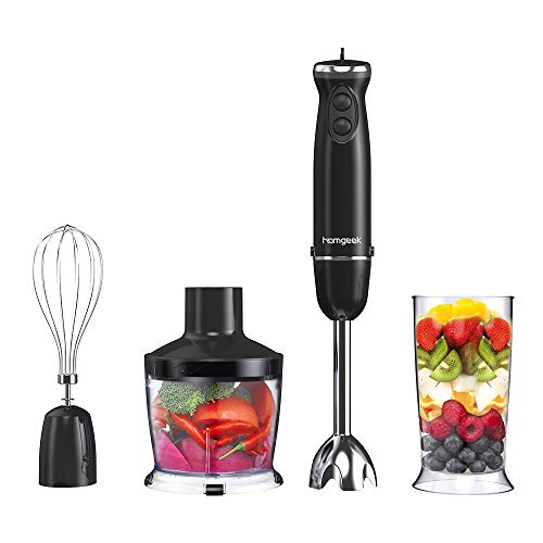 Stabmixer Set, Homgeek 800W 4-in...