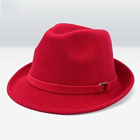 Uomini e donne cappello generale autunno e l'inverno ombra di lana cappello all'aperto ( colore : F. )