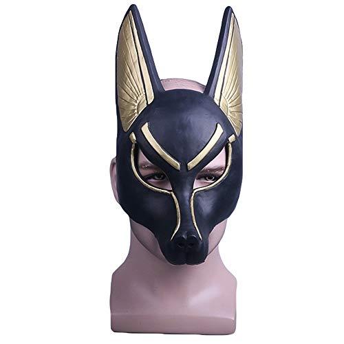 Hope Death Anubis Plastikmaske Cosplay Kostüm Halloween Maskerade Ball Party Masken One Size für 55-62 cm,A-OneSize (Anubis Kostüm Halloween)
