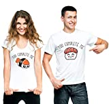 t-shirteria Coppia T-Shirt San Valentino You Complete Me Sushi - Idea Regalo per...