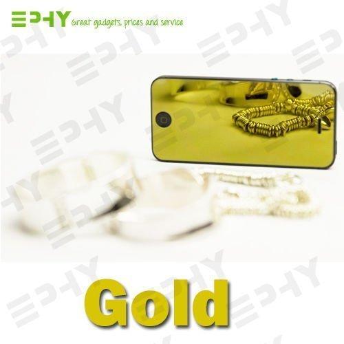 Apple iPhone 5 5/S Di lusso Specchio 9ORE Protezione Dello Schermo In Vetro Temperato UK - Viola - Blu - Oro - Color argento (VENDITORE UK) - Dorato Dorato