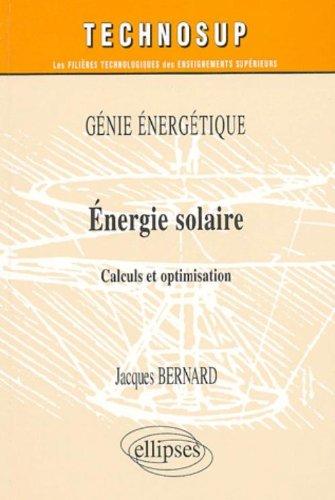 Energie solaire : Calculs et optimisation