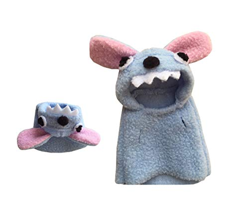 Khemn Designer-Kostüm mit dickem Polarfleece, ideal für Ratte, Hamster, Eichhörnchen, Meerschweinchen, XXL