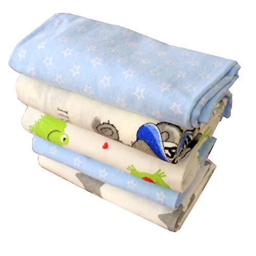 Baby Maia mondo Molton panni soft-flanella pannolini bianco/colorato Mix 70x 80cm, Doudou Doudou bavaglini, Fasciatoio