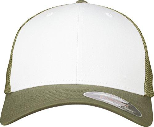 Flexfit Mesh Colored Front Unisex Kappe für Damen und Herren, Mehrfarbig (buck/White), L/XL -