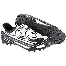 Zapatillas de Ciclismo Blanco y Negro para Pedales SPD Automaticos de Bicicleta MTB T 43 3515