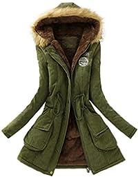 bd59d5fd2a36 TWIFER Damen Frauen Warm Lange Mantel Pelzkragen Kapuzenjacke Winter Parka  Outwear