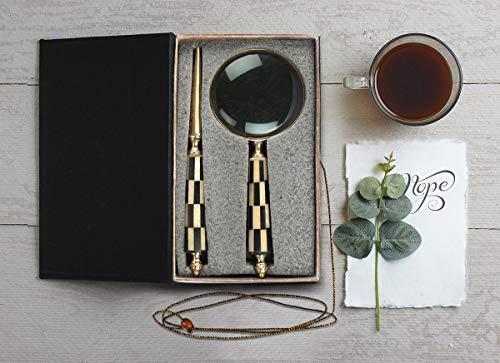 Vintage Lupe und Brieföffner Set Handgemachtes und Handgefertigte Lupe & Umschlag Brieföffner...
