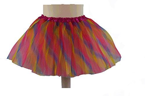 Soleil2012 Tutu Tütü für Kinder Kindertütü Tüllrock Ballettrock Petticoat Unterock Rock (92 - 140, (Regenbogen Tutu Kinder)