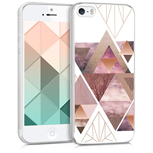 kwmobile Apple iPhone SE / 5 / 5S Hülle - Handyhülle für Apple iPhone SE / 5 / 5S - Handy Case in Rosa Rosegold Weiß
