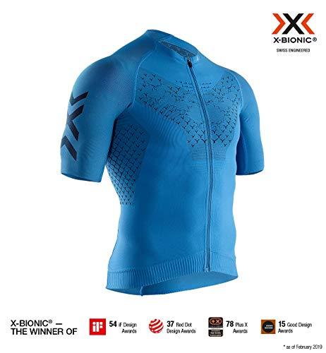 Polypropylen-zip-kragen-shirt (X-Bionic Herren Twyce 4.0 Bike Zip, Short Sleeve Shirt, Blue/Opal Black, XXL)
