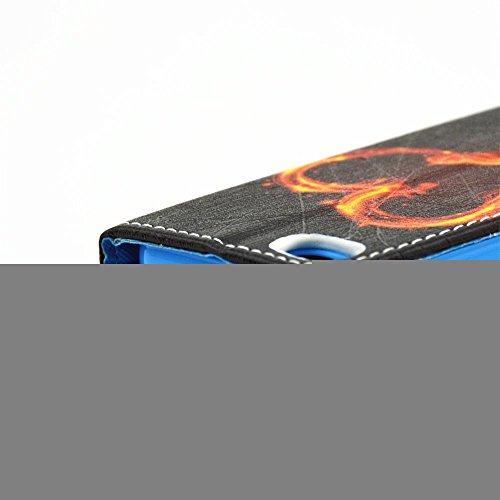 Ooboom® iPhone 5SE Coque PU Cuir Flip Rabat Elégant Housse Étui Cover Case Portefeuille avec Carte de Crédit Fentes pour iPhone 5SE - Feux d'artifice Feu