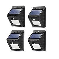 Vingtank 20-LED Solar Hareket Sensörlü Duvar ışıkları, su geçirmez insan kızılötesi PIR Hareket Sensörü ışık duvar lambası güvenlik gece lambası 3akıllı mod için bahçe, Outdoor, çit, TE