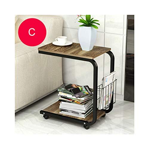 ELYSYSRL Couchtische Nachttisch Konsole mit bewegbar Mini Schlafzimmer Wohnzimmer Sofa Beistelltisch Einfach Kaffeetisch-C-20.08X11.81Zoll -