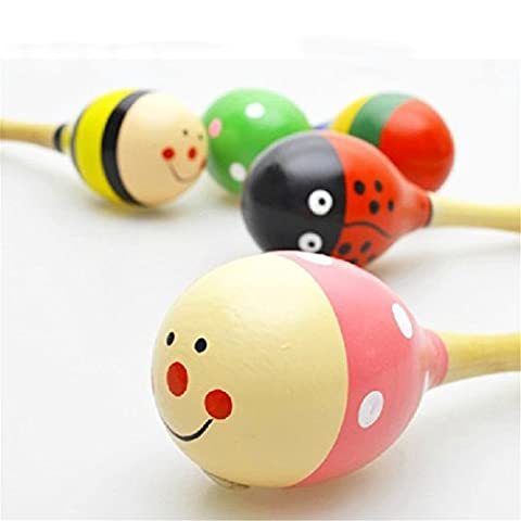 Cute Baby Kids Sound Music Gift Toddler Rattle Musical Wooden Colorful Toys (2pcs)