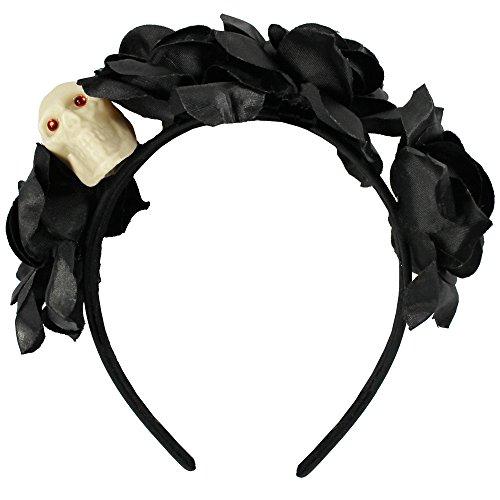com-four® Haarreif Dia de los Muertos, Kostüm Zubehör -