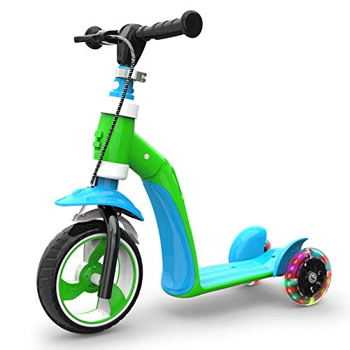 Children's Three-wheeled Scooter, Folding Scooter With 3 PU Wheels, Balanced Scooter 1-7 Years Old, A Variety Of Colors To Choose From - 2-rad Razor Roller