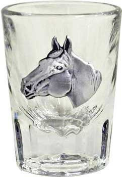 (Libbey 2oz Horse Head Fluted Bar Shot Glass by AWOL Country Western Collection)