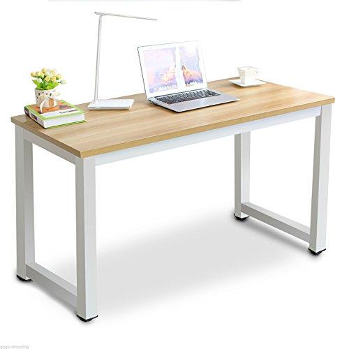 Dakea Schreibtisch Computertisch Bürotisch 25mm DMF Gelb 120 x 60 x 74cm(LxWxH)