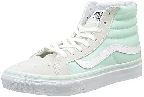 Vans Damen Ua Sk8-Hi Slim Hohe Sneakers, Grün (Bay/True White), 39 EU