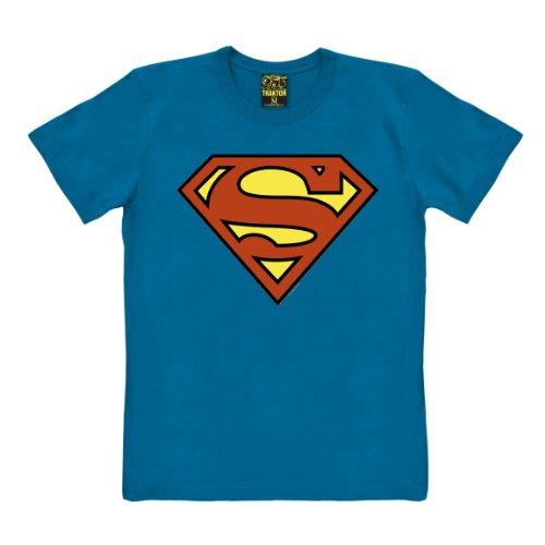 omic T-Shirt - blau - Original der Marke TRAKTOR®, Größe XXL (Xxl Superhelden Kostüm Hund)