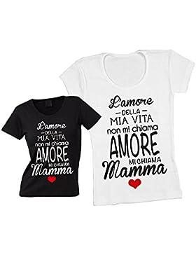 Altra Marca T-Shirt Donna Maglietta Personalizzata Amore della mia Vita Maglia Femminile Estiva Idea Regalo per...