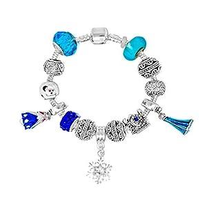 Frozen Disney-Prinzessinnen inspirierten Charm Armbänder für Mädchen (Elsa eiskönigin und Anna) ❄️❄️❄️