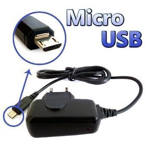 PCMOVILES -- Compatible Micro Usb Cargador de bateria Para Blackberry curve 8520/9300