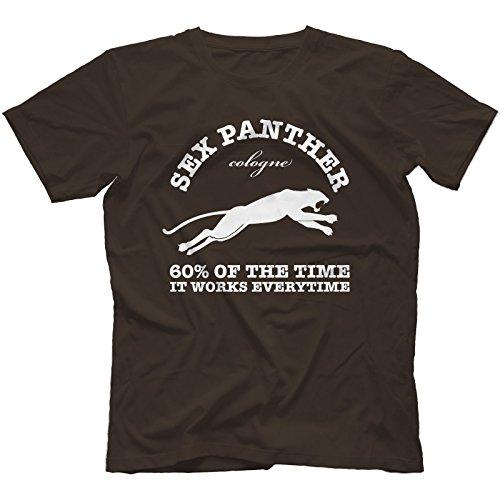 Anchorman Inspired Sex Panther T-Shirt, Dark Chocolate, Large [Apparel]