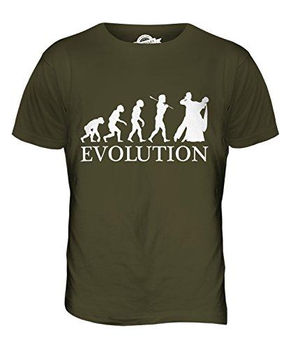 CandyMix Walzer Tanzen Evolution Des Menschen Herren T Shirt Khaki Grün
