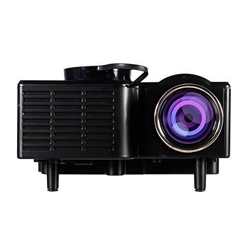 Mini Projecteur Portable Maison Cinéma - UC28 + Vidéoprojecteur 1080P Full HD LED 2 en 1 3D Projecteur AV VGA USB HDMI (Noir)