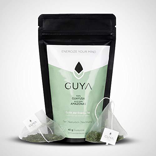 GUYA Bio Guayusa Tee - 20 Teebeutel - für mehr Fokus, Ausdauer & Leistung - 100% natürlicher Guayusa Tea reich an Koffein und L-Theanin für langanhaltende Energie - Perfekter Kaffeeersatz!