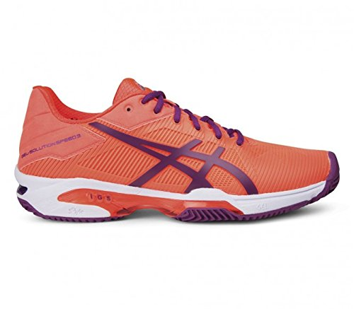 ASICS GEL SOLUTION SPEED 3 CLAY - FLASH CORAL/PLUM/FLASH CORAL (EU 40 - CM 25,25)