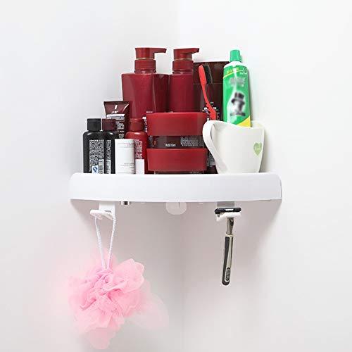 Hot Snap (JIEBANBOOS Badezimmer Regal Hot Snap Up Eckregal Dreieck Badezimmer Wand Eckmontage Lagerhalter Rack Regal mit Haken Drop Shipping)