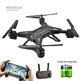 Quadrocopter Mini Drone FPV RC Pieghevole con Telecamera No / 0.3MP / 1080P Circa 20 Minuti Tempo di Volo Altitudine Tenere Premuto Un Tasto Ritorno,Black