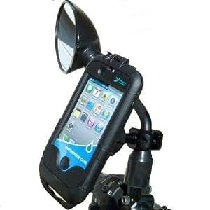 étanche iPhone 4 Étui Résistant Miroir De Moto Support (sku 15051)