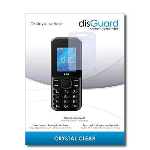 disGuard® Bildschirmschutzfolie [Crystal Clear] kompatibel mit AEG M1120 [2 Stück] Kristallklar, Transparent, Unsichtbar, Extrem Kratzfest, Anti-Fingerabdruck - Panzerglas Folie, Schutzfolie
