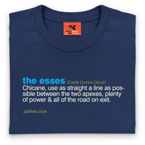 Japfest Castle Combe Esses T-Shirt, Damen Dunkelblau