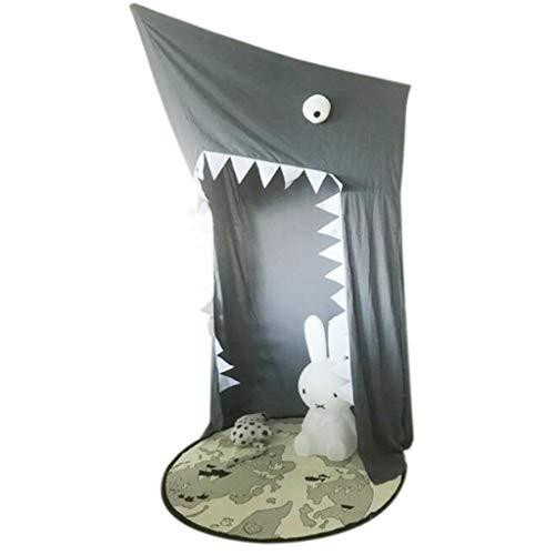 Dyl Baldachin hängendes Spielzelt, kreatives Hai-Abenteuer-Zelt-Kindspiel-Zelt-Moskitonetz, verwendbar für Kinderzimmer verzieren für Babykinder Innen-im Freien - grau