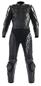 Dainese 2513318 T. Tattoo Div. Lady One-Piece Leather Suit EU Size 42 Black